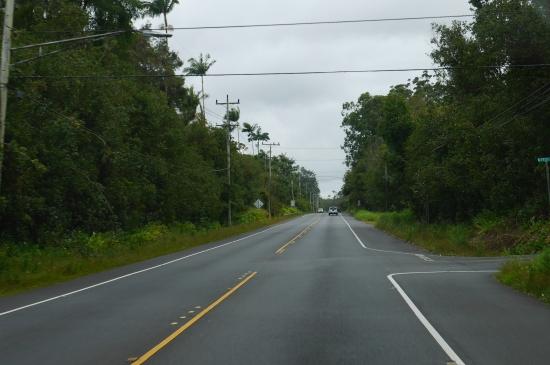 キラウエア火山への道路