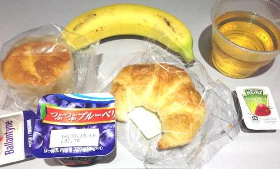 ハワイアン航空 朝食