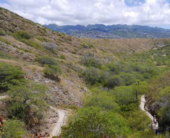 登山道から下を見ると