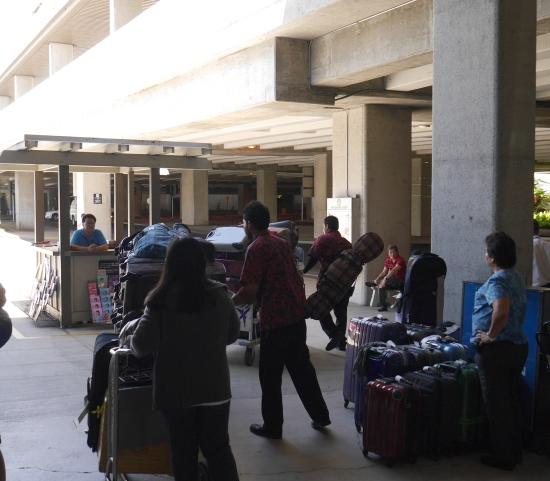 ハワイアン航空ハワイ島行き手荷物預け場所