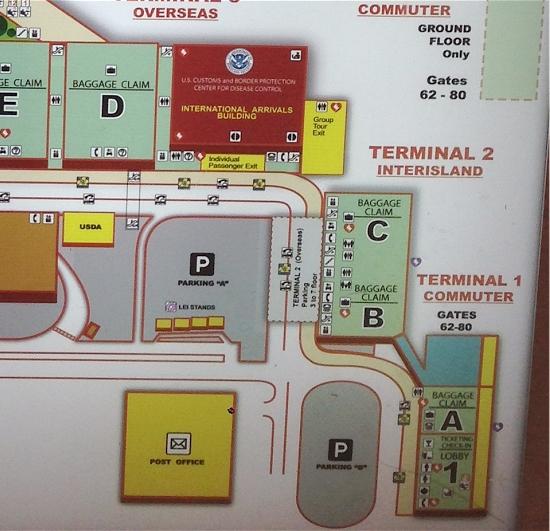 ホノルル空港地図