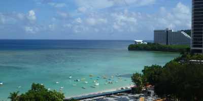アウトリガーホテルからビーチの眺め