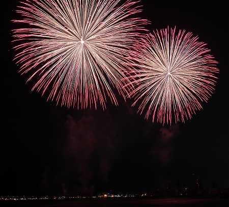 大阪と神戸の花火大会