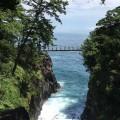 城ケ崎吊り橋 記念撮影