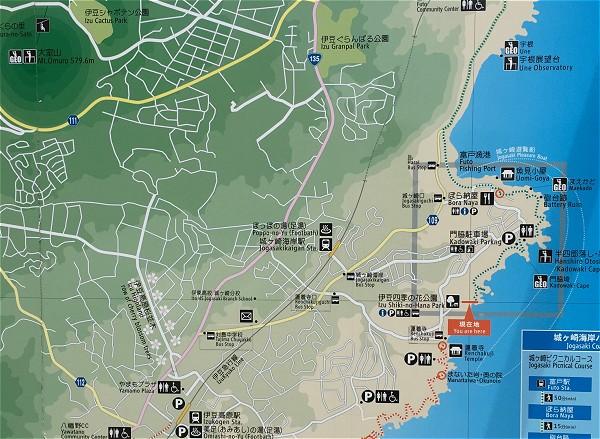 城ケ崎海岸地図